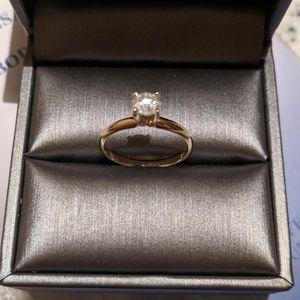 18k Gold Engagement Ring .64 Carat Diamond